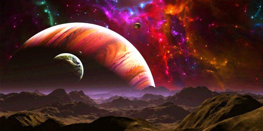 Экзопланета далекого космоса