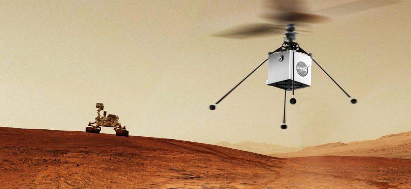 НАСА: у ровера Mars 2020 теперь винтокрылый дрон