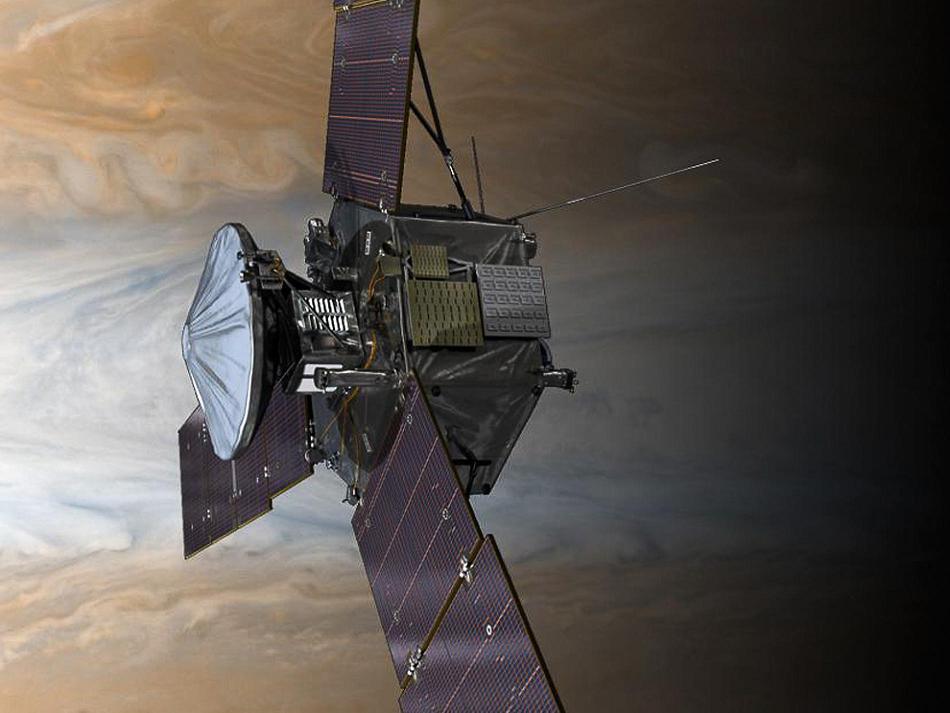 Зонд Juno готовится ко второму «прыжку» через тень Юпитера