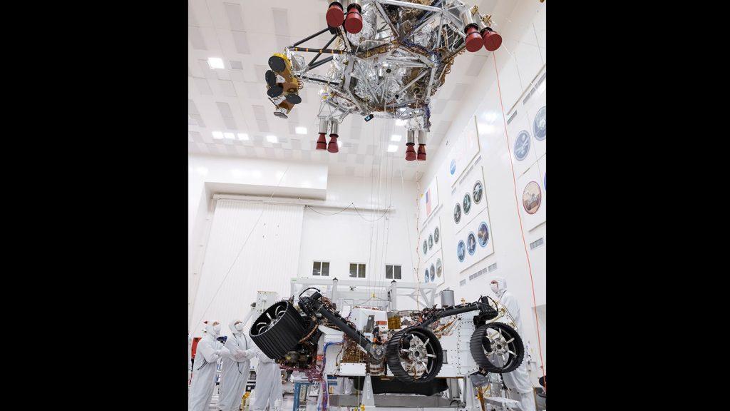 Миссия «Mars 2020»: платформа с посадочными двигателями проходит тестирование