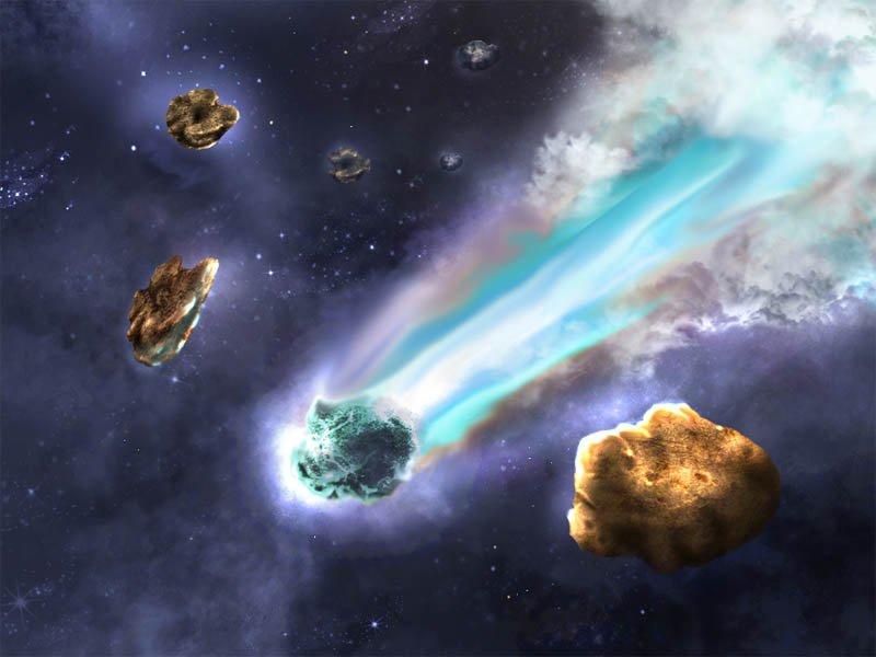 Метеориты принесли жизнь на Землю